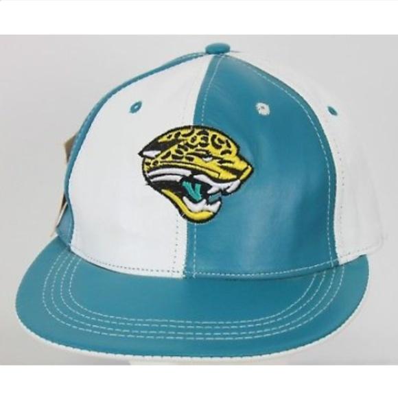 f33ee69acf39b2 NFL Accessories | Jacksonville Jaguars Hat Leather Reebok Teal W ...